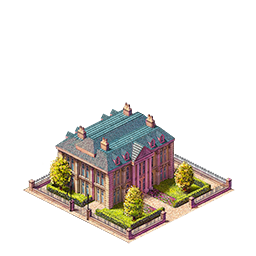 The mansion- this building has some other visual variants too.